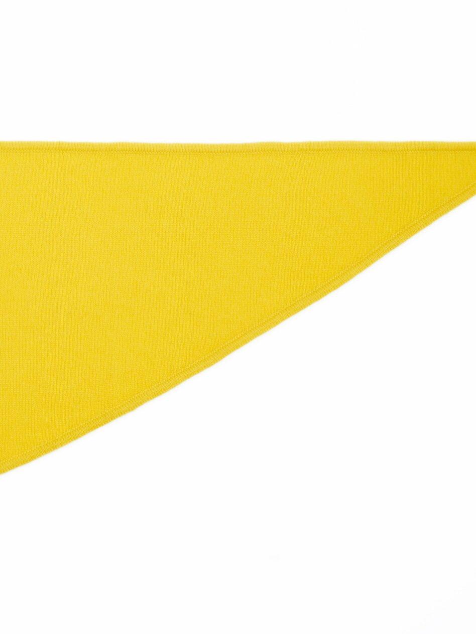 NEW YORK | Halsdreieckstuch aus Kaschmir mit locker verstricktem Kaschmirgarn der Farbe Gelb.