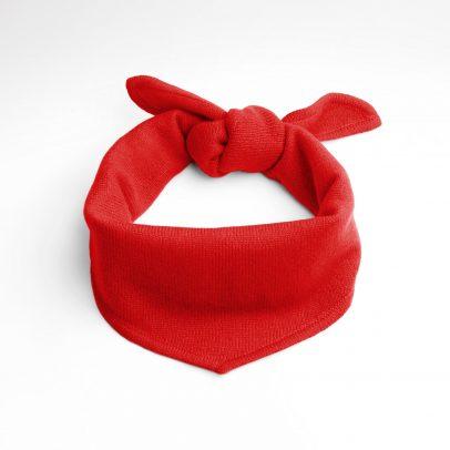 EMAAL | New York | Locker verknotetes, trendiges rotes Halsdreieckstuch aus Kaschmir.