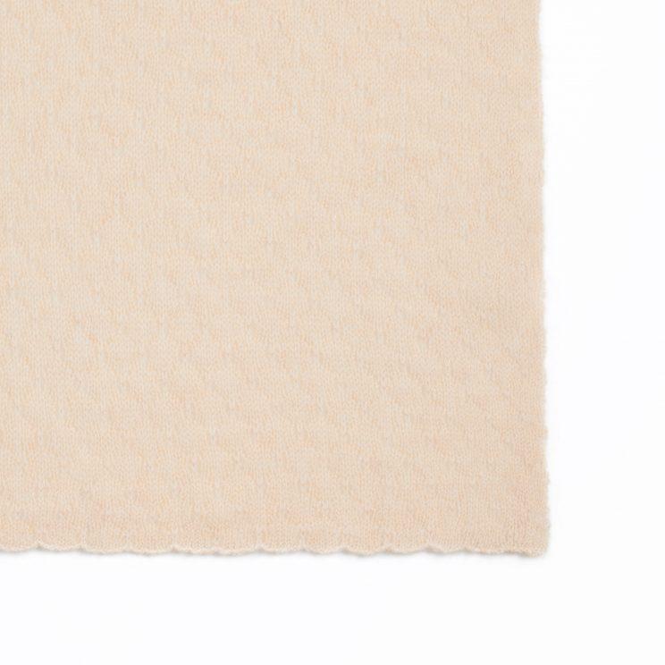 EMAAL | Namibia – Kaschmirschal in der Farbe Cappuccino mit bezauberndem Muster.