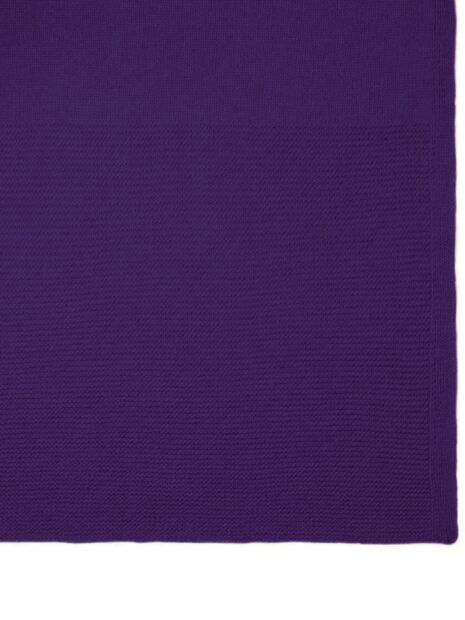 EMAAL | Oslo grosser Cashmere Schal fuer Damen und Herren in der Farbe creme. Mit unterschiedlichem Muster am Ende des Kaschmirschals verstrickt.